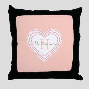 Heart Monogram Throw Pillow