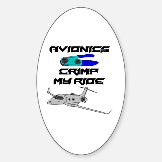 Unique Aircraft technician Sticker (Oval)