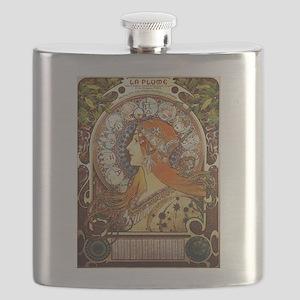 Alphonse Mucha La Plume Zodiac Flask
