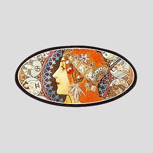 Alphonse Mucha La Plume Zodiac Patches
