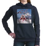 Sakura Geisha Bird Women's Hooded Sweatshirt