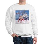 Sakura Geisha Bird Sweatshirt
