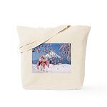 Sakura Geisha Bird Tote Bag