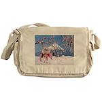 Sakura Geisha Bird Messenger Bag