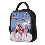 Sakura Geisha Bird Neoprene Lunch Bag