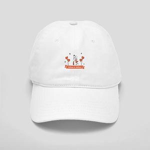 Personalized Names Couple Hearts Baseball Cap