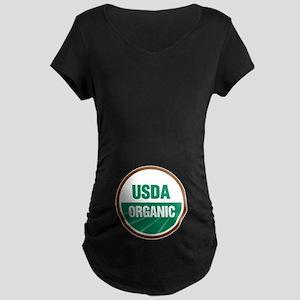 USDA Organic Maternity Dark T-Shirt