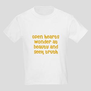 Open hearts wonder at beauty  Kids Light T-Shirt