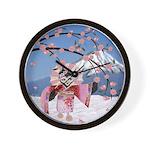 Sakura Geisha Bird Wall Clock