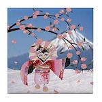 Sakura Geisha Bird Tile Coaster