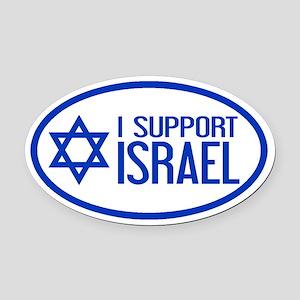 I Support Israel Oval Car Magnet