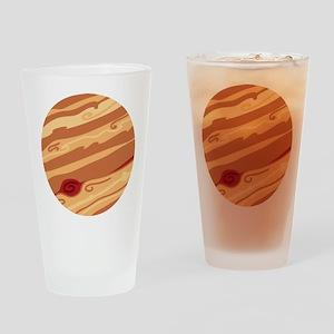 Cute Planet Jupiter Drinking Glass