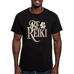 Be Reiki Pawprint Men's Fitted Dark T-Shirt