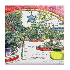 French Quarter Patio Tile Coaster