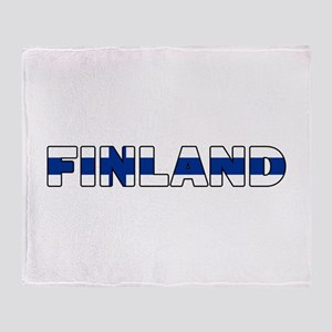 Finland Throw Blanket