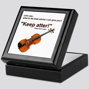 """Keep atter!"" Fiddle Violin Keepsake Box"