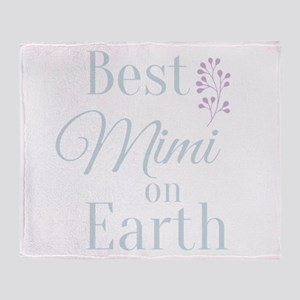 Best Mimi on Earth Throw Blanket