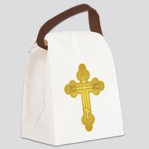 Orthodox Cross Canvas Lunch Bag