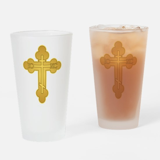 Orthodox Cross Drinking Glass