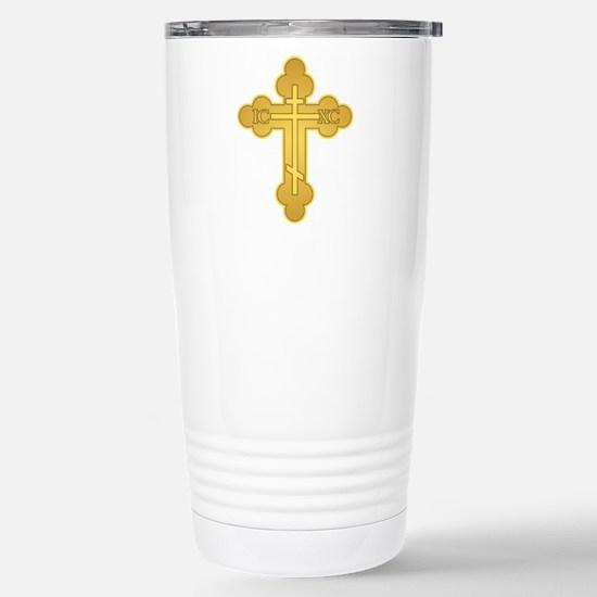 Orthodox Cross Travel Mug