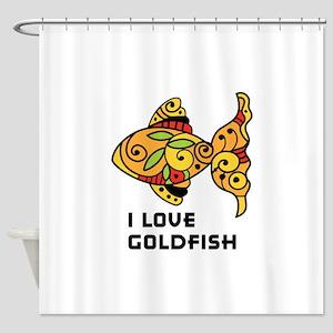 I Love Goldfish Shower Curtain