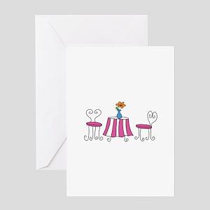 SIDEWALK CAFE Greeting Cards