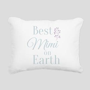 Best Mimi on Earth Rectangular Canvas Pillow