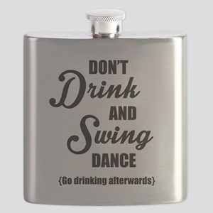 Don't Drink and Swing (black) Flask