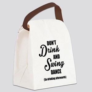 Don't Drink and Swing (black) Canvas Lunch Bag