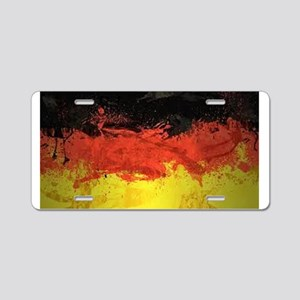 Artsy German Flag Aluminum License Plate