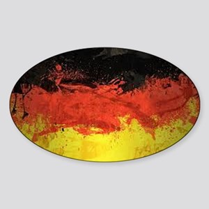 Artsy German Flag Sticker (Oval)