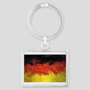 Artsy German Flag Landscape Keychain