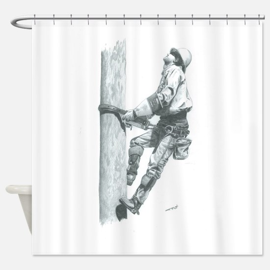 Making The Climb Shower Curtain