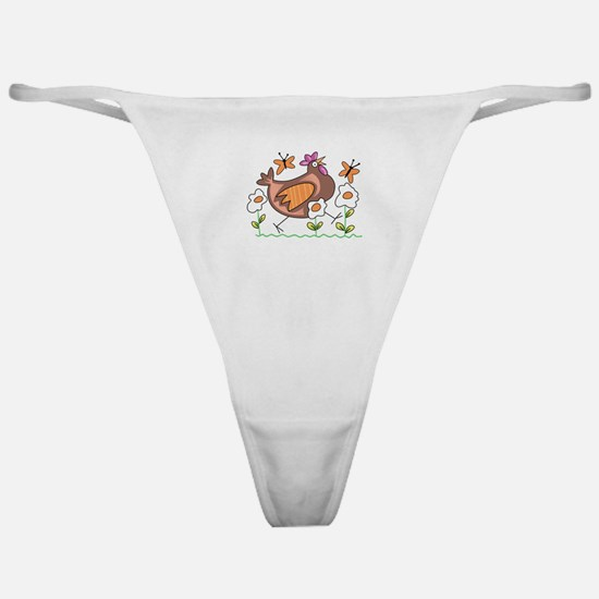 EGG FLOWERS & CHICKEN Classic Thong