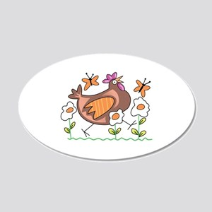 EGG FLOWERS & CHICKEN Wall Decal