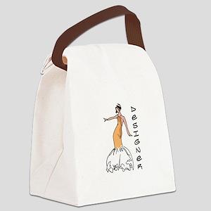 Designer Canvas Lunch Bag