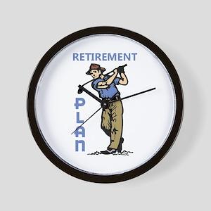 Retirement Plan Wall Clock