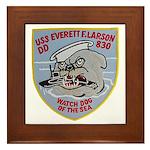 USS EVERETT F. LARSON Framed Tile