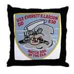 USS EVERETT F. LARSON Throw Pillow