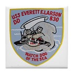 USS EVERETT F. LARSON Tile Coaster