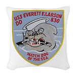 USS EVERETT F. LARSON Woven Throw Pillow