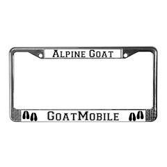 Alpine Goat License Plate Frame