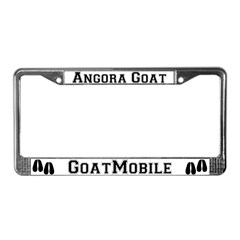 Angora Goat License Plate Frame