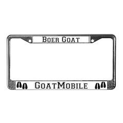 Boer Goat License Plate Frame