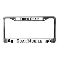 Fiber Goat License Plate Frame