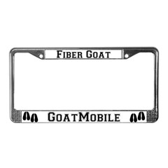 Fiber Goat License Plate Frame