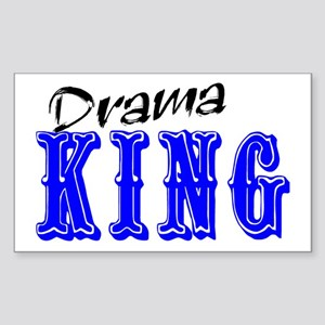 Drama King Rectangle Sticker