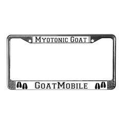 Myotonic Goat License Plate Frame