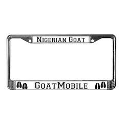 Nigerian Goat License Plate Frame