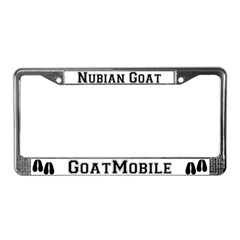 Nubian Goat License Plate Frame